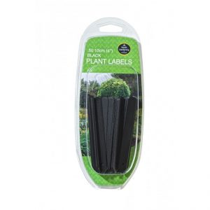 "Garland 10cm (4"") Black Plant Labels (50)"