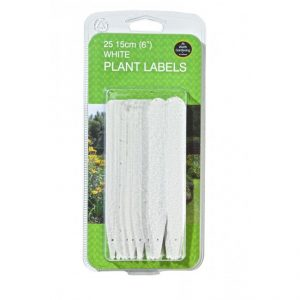 "Garland 15cm (6"") White Plant Labels (25)"