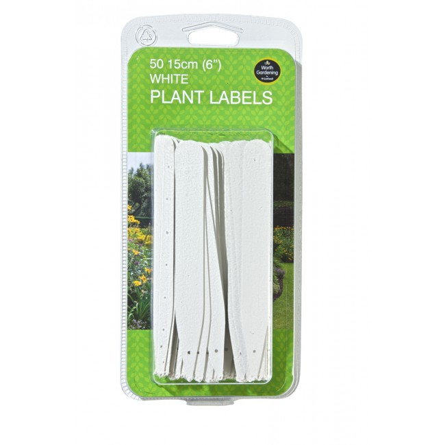 "Garland 15cm (6"") White Plant Labels (50)"