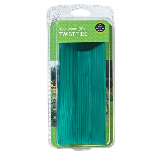 "Garland 20cm (8"") Twist Ties (100)"