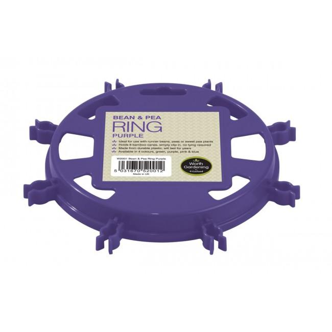 Garland Bean & Pea Ring Purple
