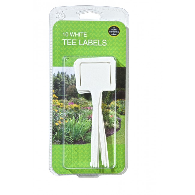 Garland White Tee Labels (10)