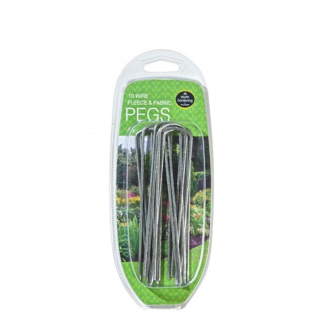 Garland Wire Fleece & Fabric Pegs (10)