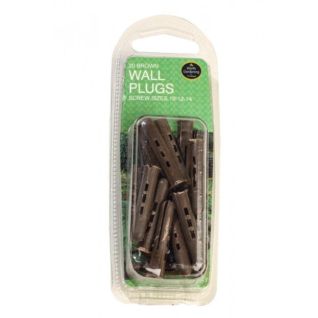 Garland Brown Wall Plugs Screw Sizes 10-12-14 (20)