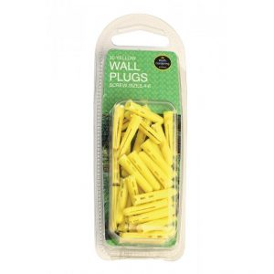 Garland Yellow Wall Plugs Screw Sizes 4-6 (30)