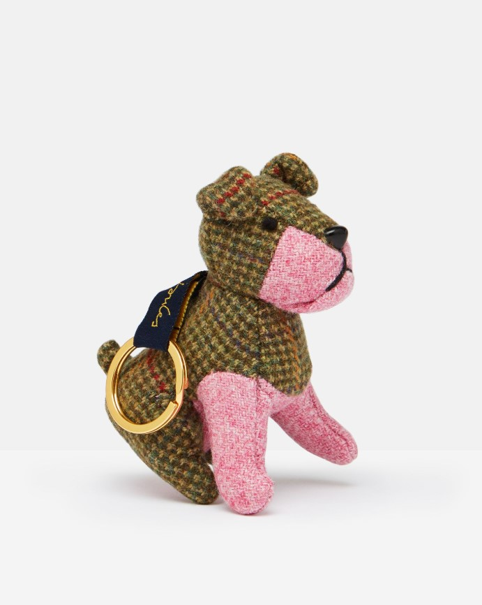 Joules Tweedle Novelty Tweed  Keyring - Dog