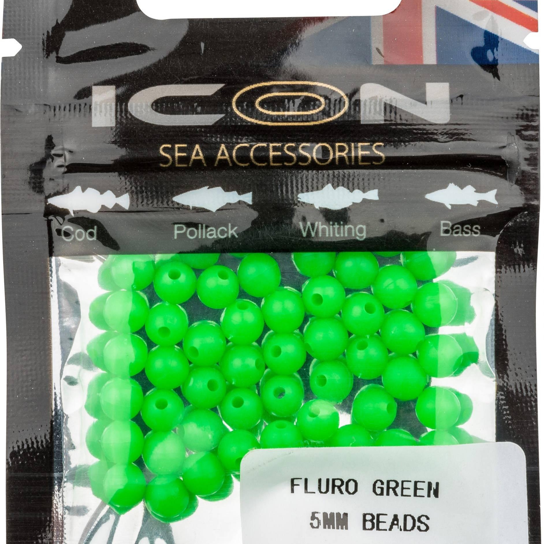 Fluro Green 5mm Bead