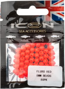 Fluro Red 5mm Bead