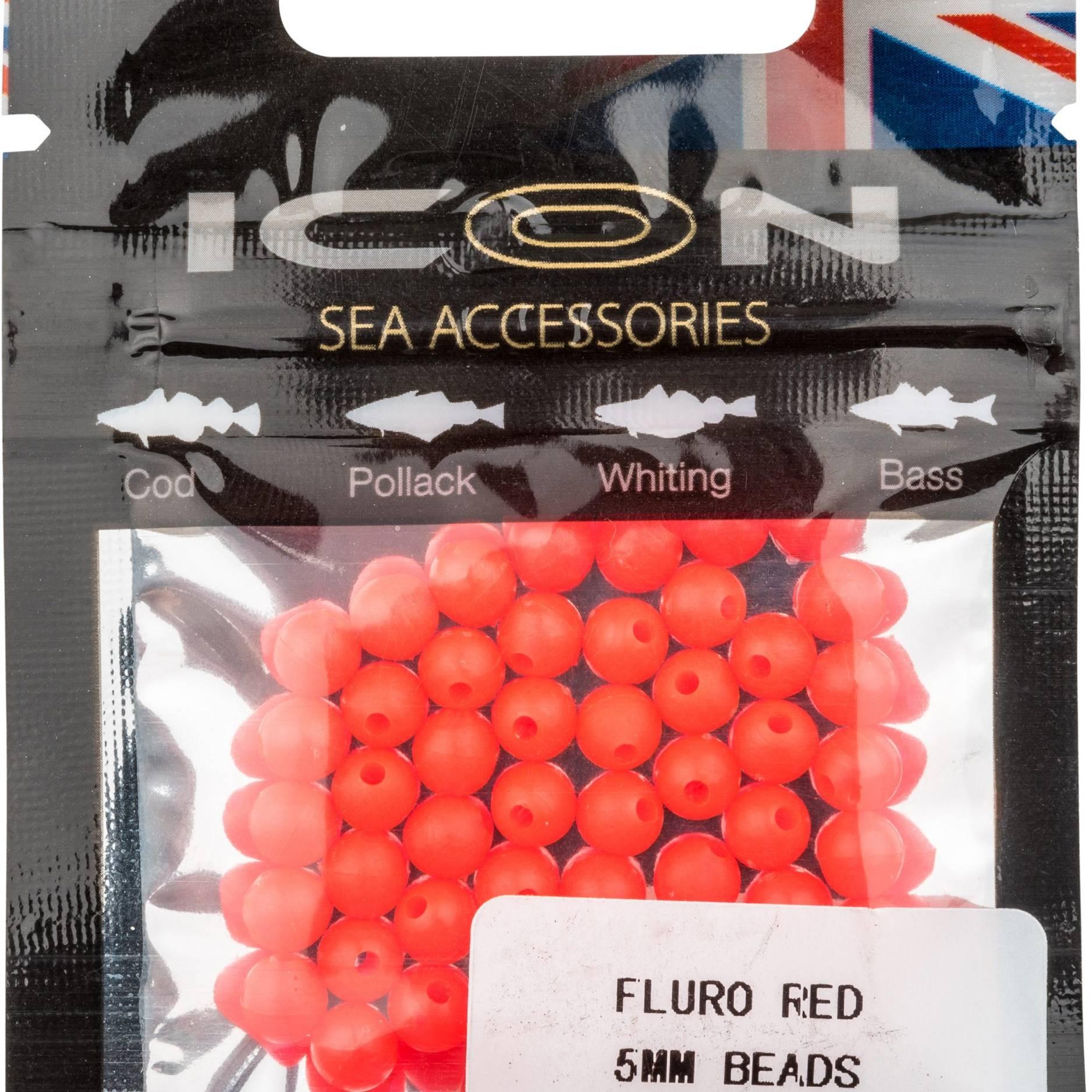 Fluro Red 5mm Bead