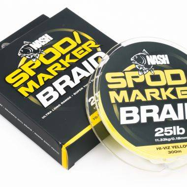 Nash Spod/Marker Braid 25lb 300m - HI-VIZ Yellow