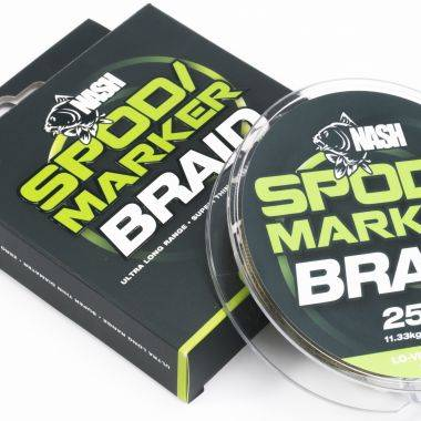 Nash Spod/Marker Braid 25lb 300m - LO-VIZ Green