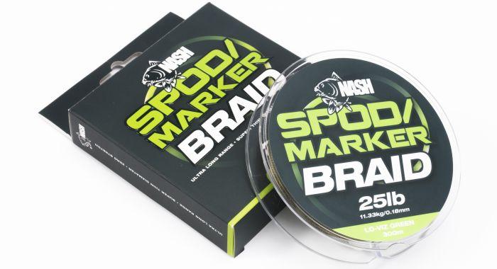 Nash Spod/Marker Braid 25lb 300m - LO-VIZ Green