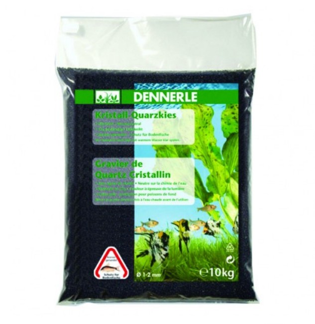 Dennerle Quartz Gravel Diamond Black - 10Kg