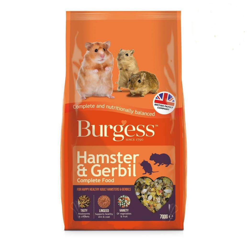 Burgess Hamster and Gerbil Food 700g