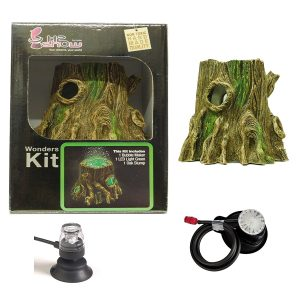 Hydor H2Show Kit Oak Stump Includes Green Led And Airater