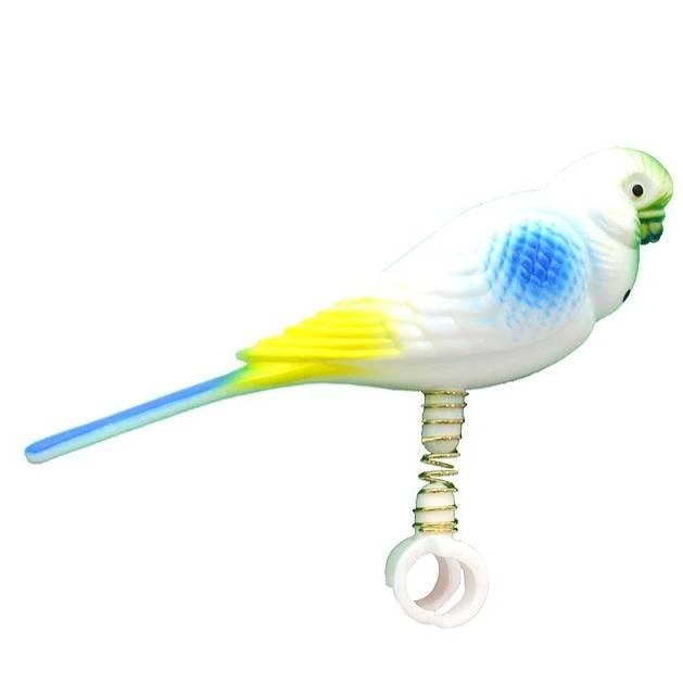 Beaks 12cm Parakeet on Spring