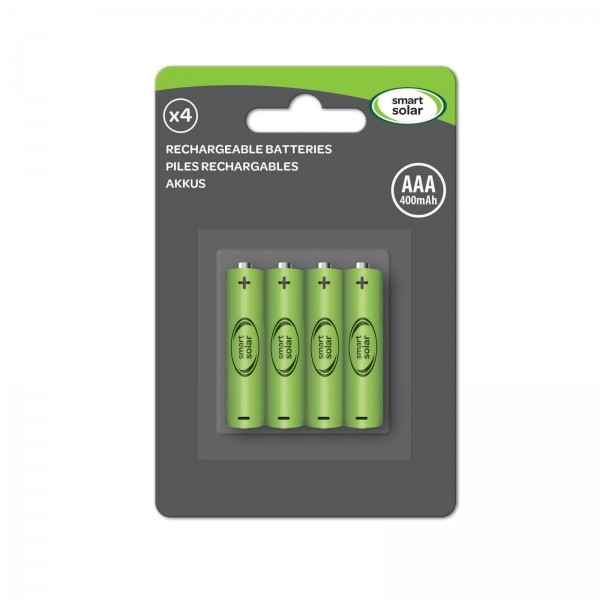 Smart Solar AAA Rechargeable Batteries 600mAh (4pk)