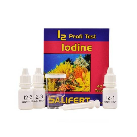 Salifert Profi Test - I2  Iodine (Saltwater Only) 40 Tests