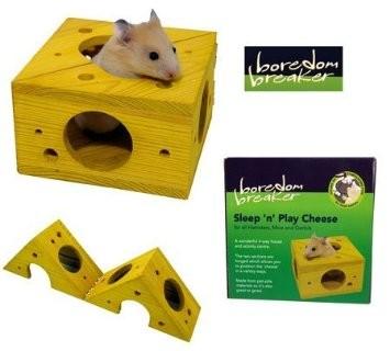 Rosewood Boredom Breaker Sleep'N'Play Cheese-Hamsters, Mice and Gerbils