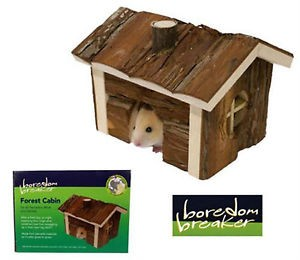 Rosewood Boredom Breaker 'Forest Cabin'-Hamsters Mice And Gerbils