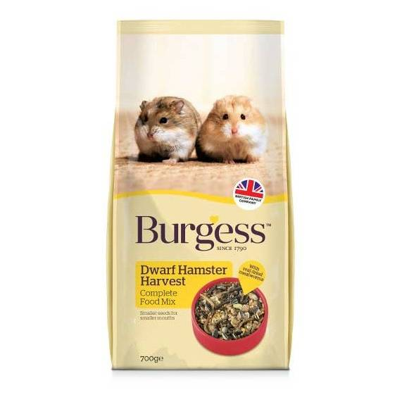 Burgess Dwarf Hamster Harvest 700G