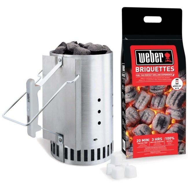 Weber Rapidfire Chimney Starter Set - 17631