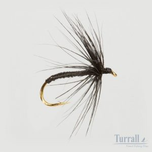 Turrall Black Spider Wet Hackled 12