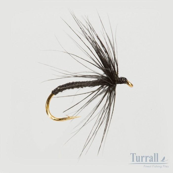 Turrall Black Spider Wet Hackled 12