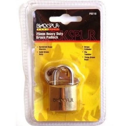 Blackspur 25mm Heavy Duty Padlock With Hardened Shackle (PD210)