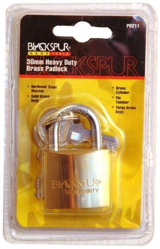 Blackspur 30mm Heavy Duty Padlock With Hardened Shackle (PD211)