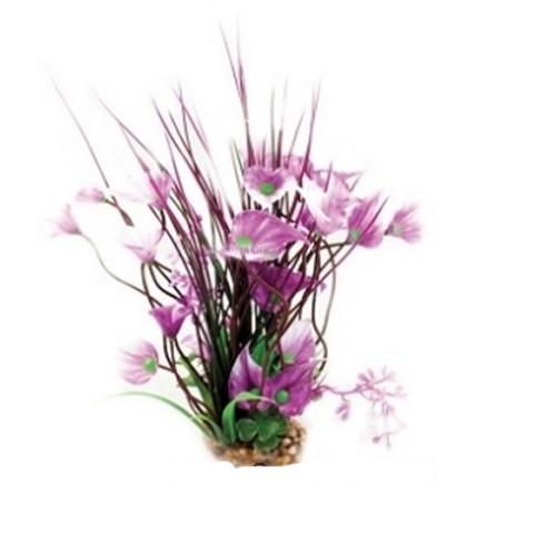 Aqua One Purple Villarsia/Hygrophila With Gravel Base - Medium (28203)