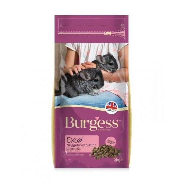 Burgess Excel Adult Chinchilla Nuggets With Mint - 2 kg