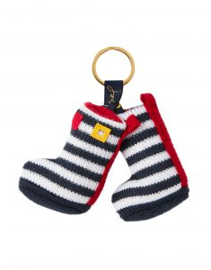 Joules Coxwold Knitted Keyring - Navy Welly