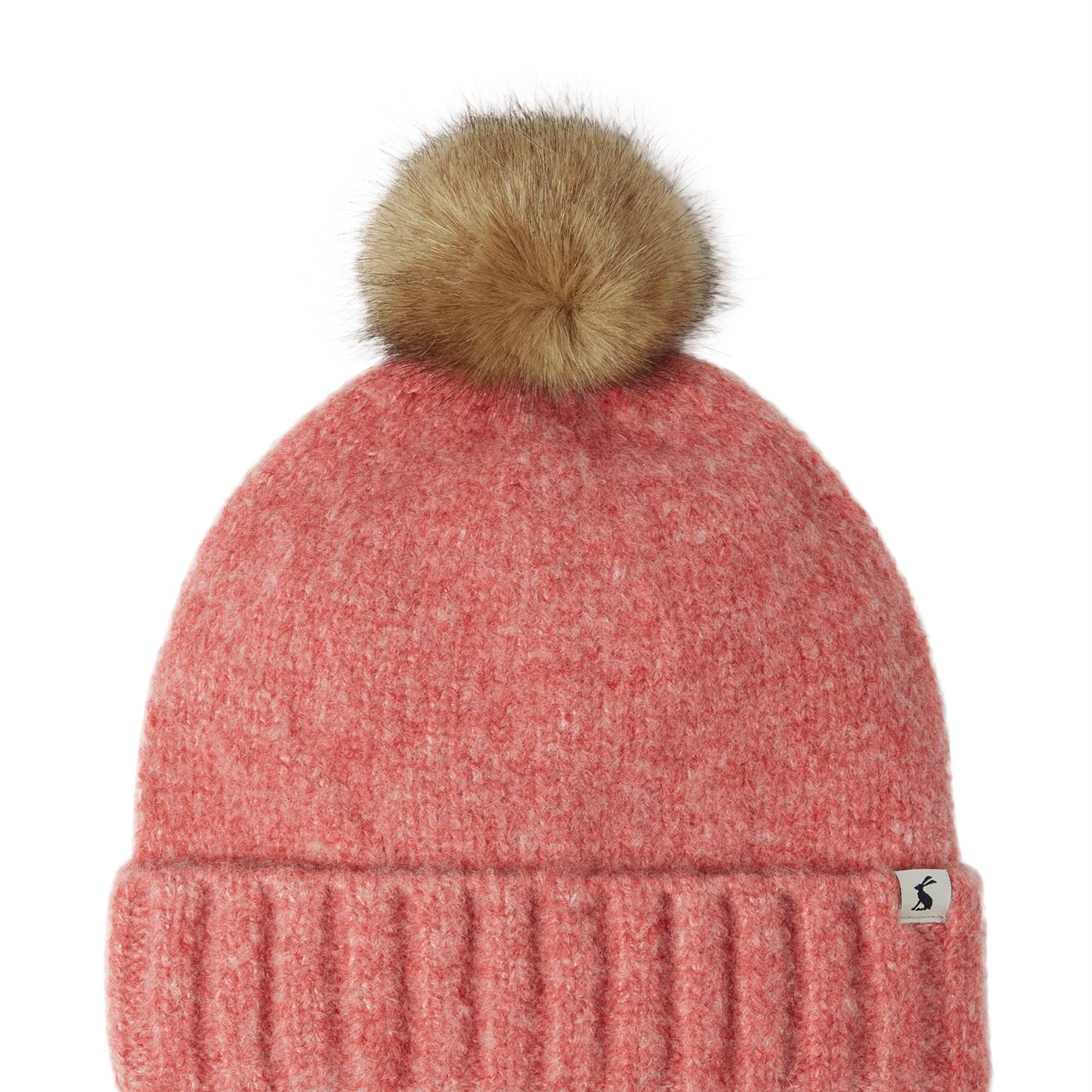 Joules Ladies Snugwell Hat Heavyweight Boucle Hat - Pink Blush