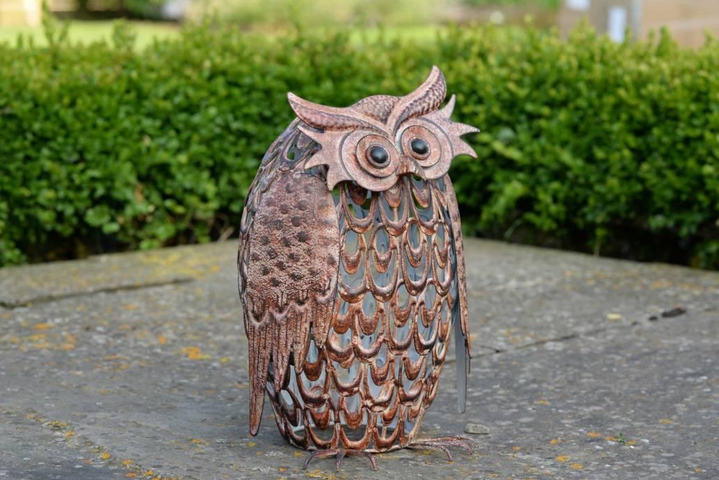 Smart Garden Metal Silhouette Solar Light - Owl