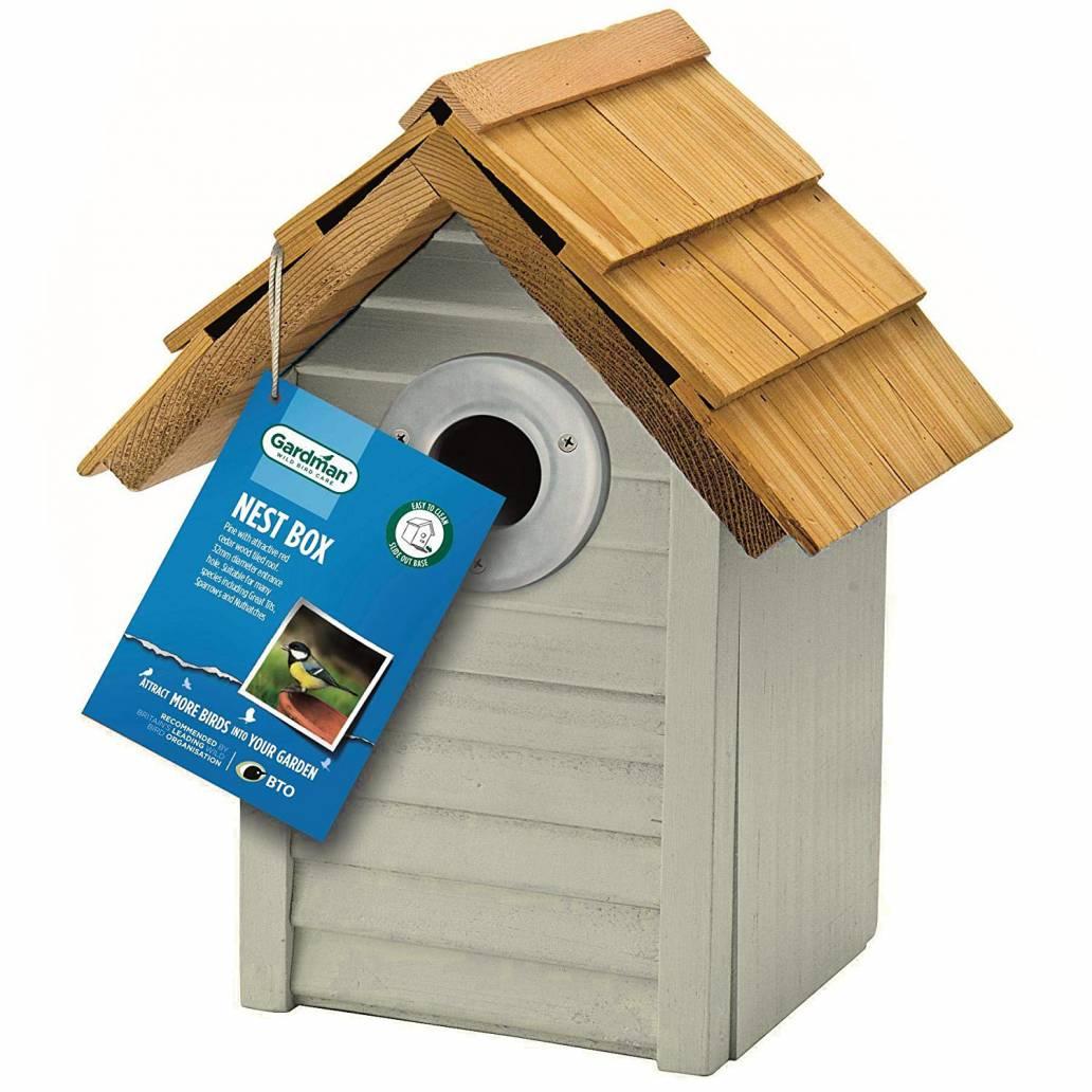 Gardman Antique Grey Beach Hut Nest Box in Box