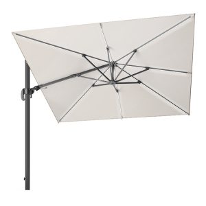 Glow Challenger T2 3m Square Parasol - Ivory