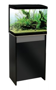 Aqua One Lifestyle 52 Aquarium and Cabinet Moon Grey with Gloss Black