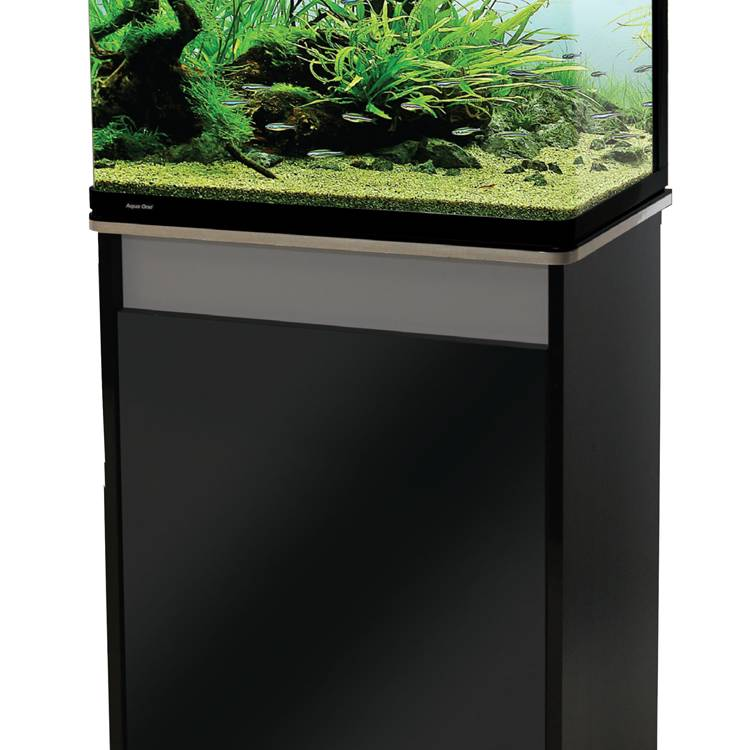 Aqua One Lifestyle 76 Aquarium and Cabinet Moon Grey with Gloss Black