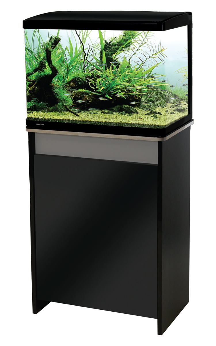 Aqua One Lifestyle 76 Aquarium and Cabinet Moon Grey with Gloss Black
