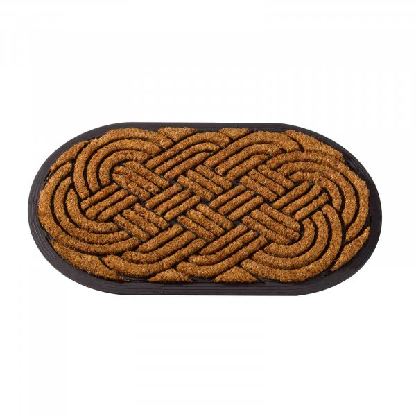 Smart Garden H/Duty Coir Mat Oval Celtic Knot 75x45cm