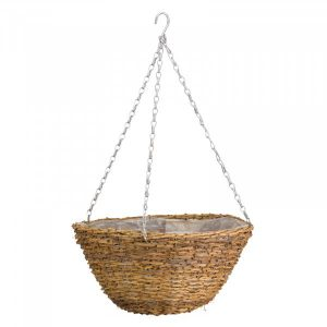 "Smart Garden 14"" Country Rattan Hanging Basket"