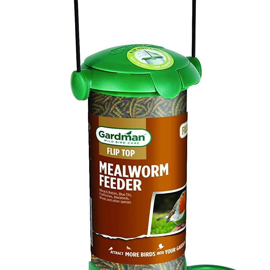 Gardman Filled Flip Top Mealworm Feeder