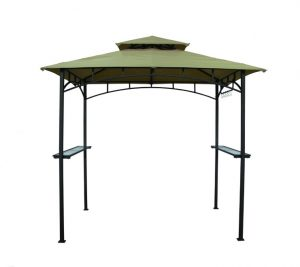 Outback Barbecue Gazebo - Green - 2.4m x 1.5m