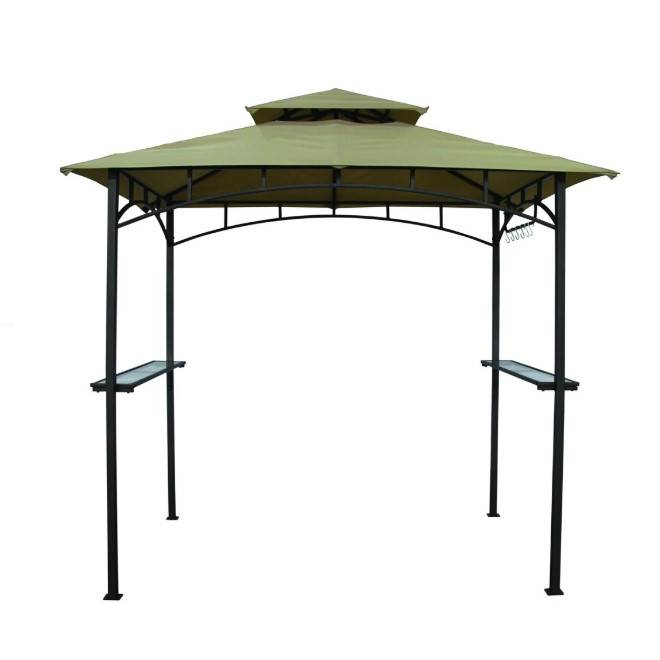 Outback Barbecue Gazebo - Green - 2.4m x 1.5m