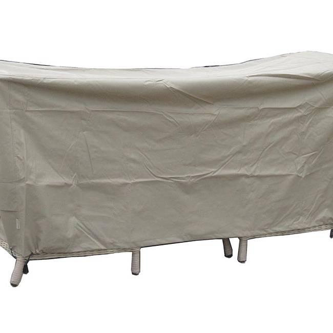 BrambleCrest 80cm Round Bistro Table Set Cover - Khaki
