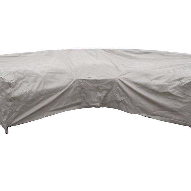 BrambleCrest Curved Corner Sofa Cover - Khaki