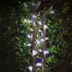 Smart Garden Solar 50 Super Bright Orbs String Lights