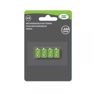 Smart Solar 1/3 AAA Rechargeable Batteries 80mAh (4pk)