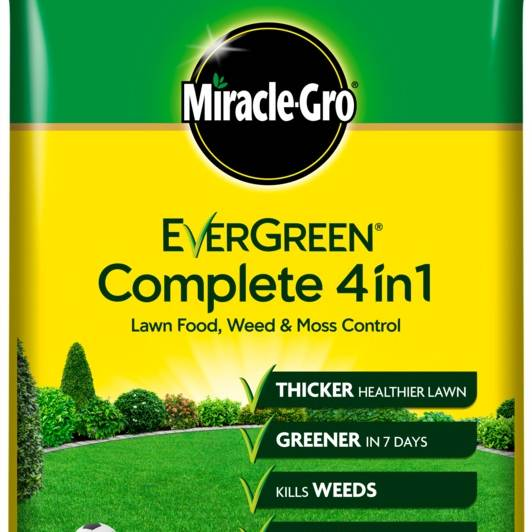 Miracle-Gro Evergreen Complete 4-in-1 Lawn Feed/Weed/Moss - 200M2